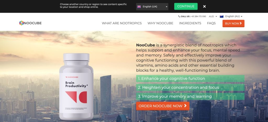 noocube australian website